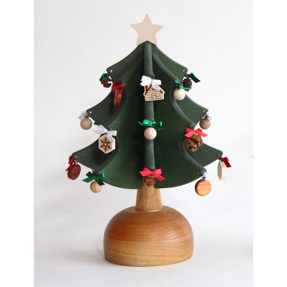 日本製/オークヴィレッジ オルゴール付クリスマスツリー・プチ