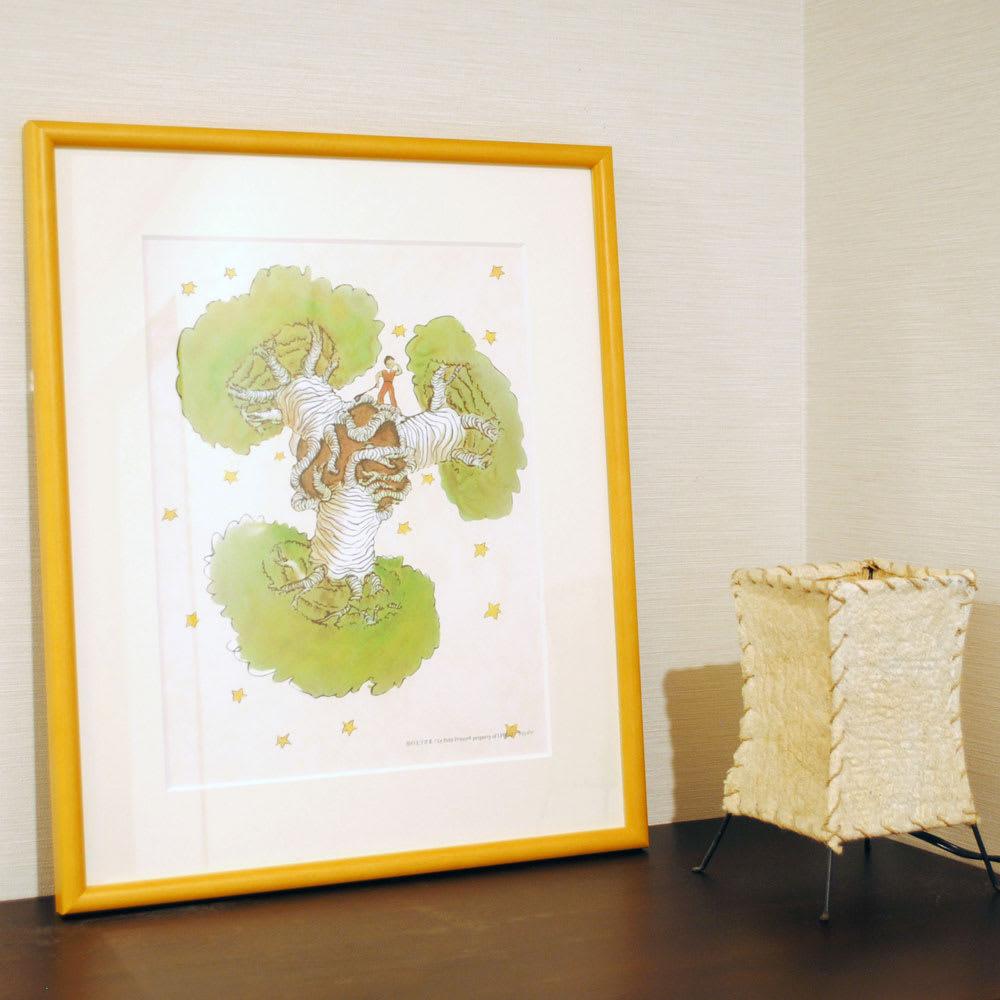 星の王子さま エディショナルナンバー付きアート 『バオバブの木』お部屋にグリーンを飾るように、アートで癒やしの空間を演出。