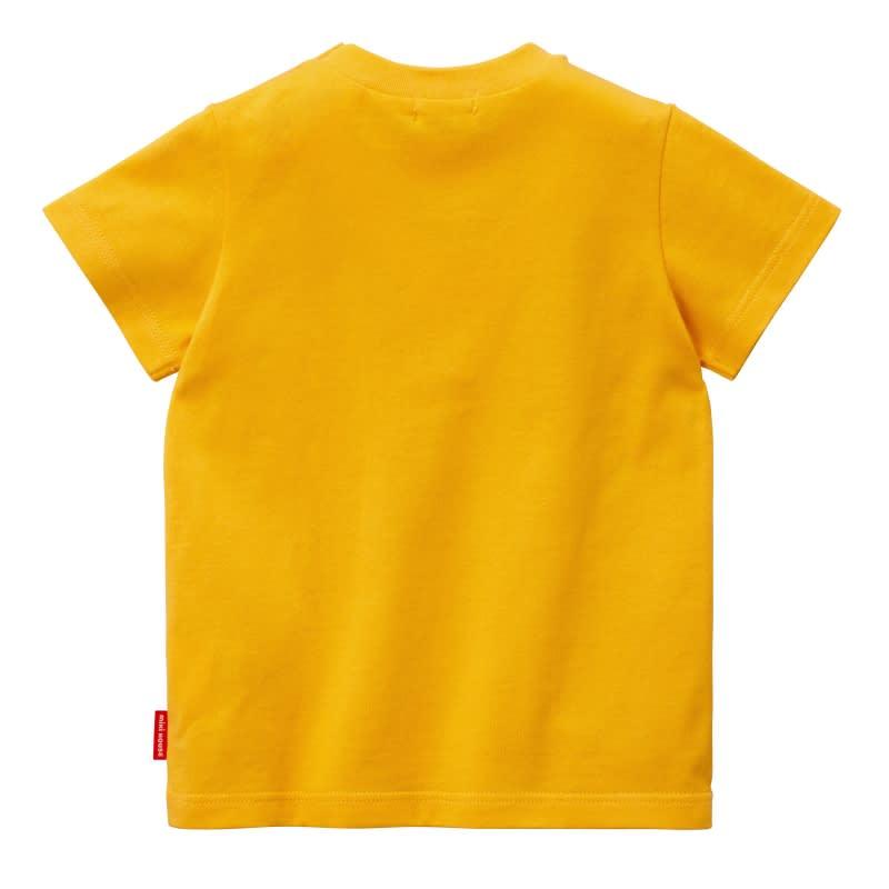 miki HOUSE(ミキハウス)/ロゴプリントシンプル半袖Tシャツ(80-130cm) (ウ)イエロー/Back