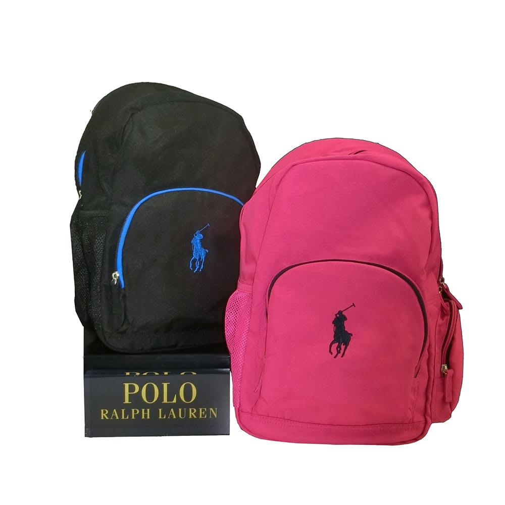 POLO RALPHLAUREN(ポロラルフローレン)/CAMPUS BACKPACK(キャンパス バックパック) リュック (イ)ブラック、(ア)ピンク