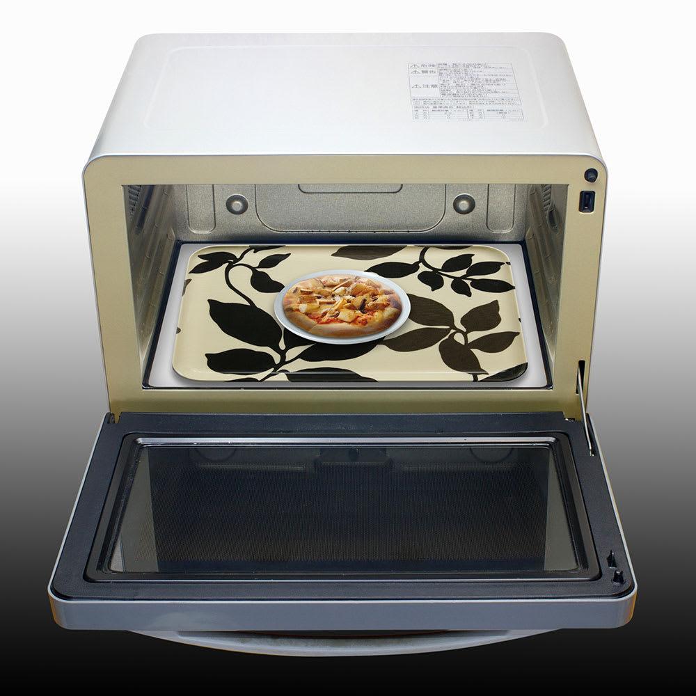 橋本達之助工芸/レンジで使える北欧柄トレー 日本製 (エ)トレーに食器をのせてレンジでチン!熱い食器に触れずに取り出せます。