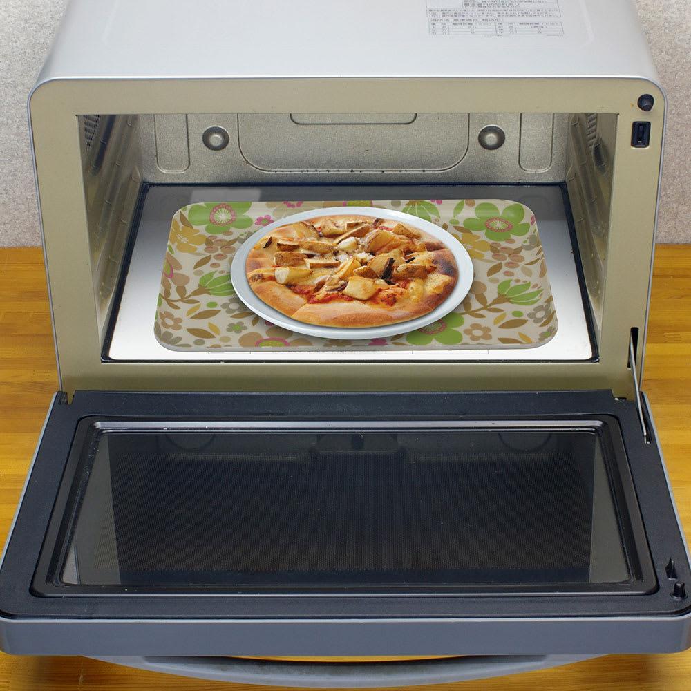 橋本達之助工芸/レンジで使える北欧柄トレー|日本製 トレーに食器をのせてレンジでチン!熱い食器に触れずに取り出せます。