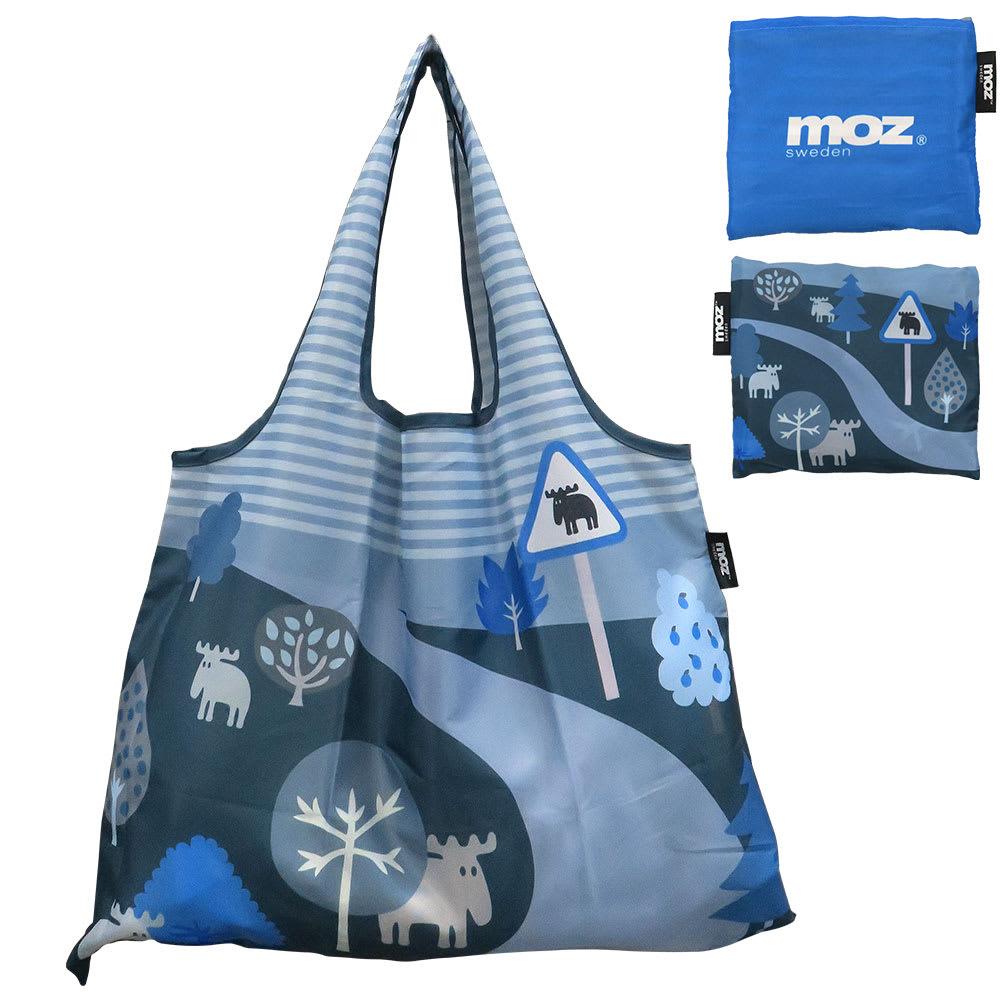 moz(モズ)/折りたたんで便利ショッピングバッグ エルク (エ)スモークブルー