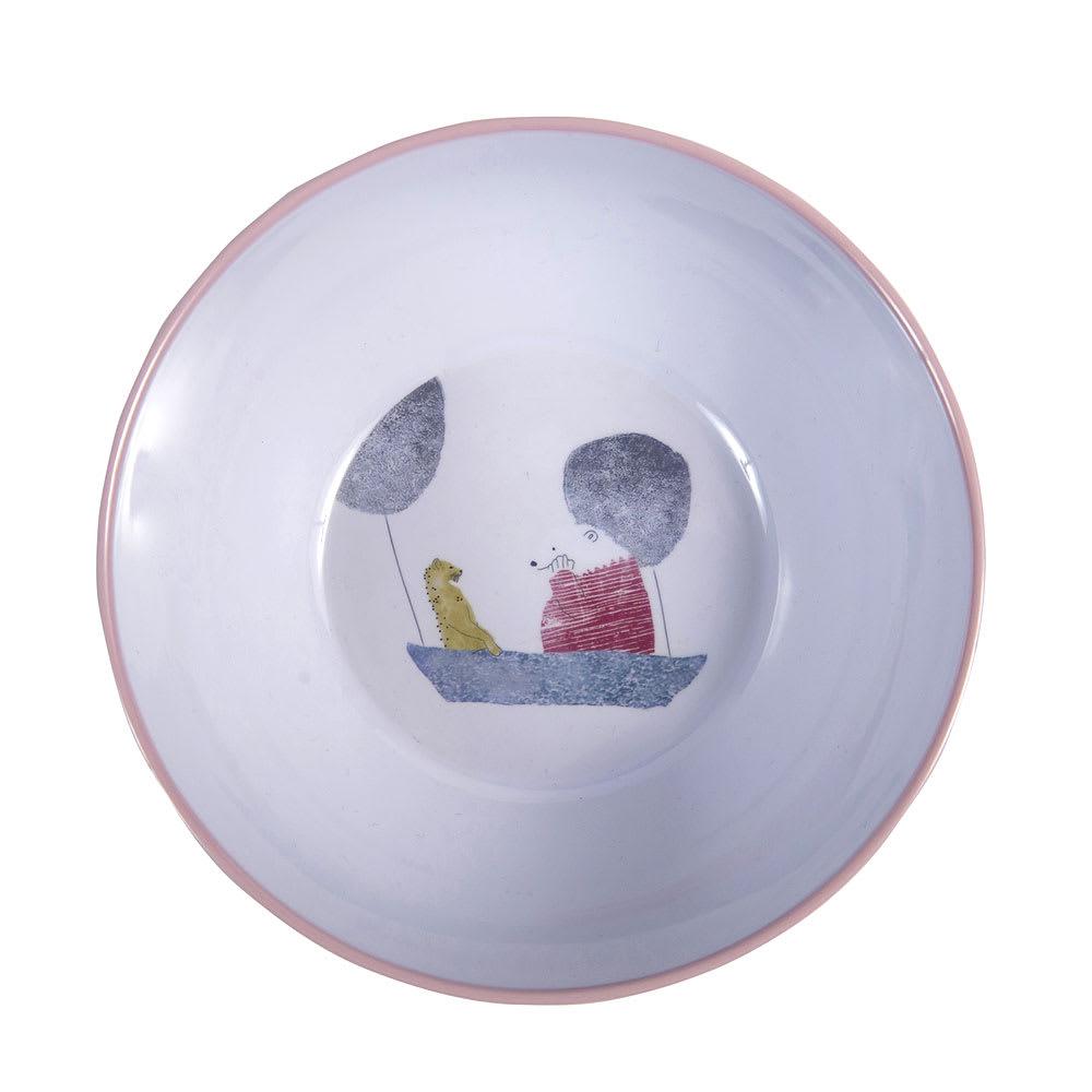 sebra(セバ)/メラミンボウルスカイ|子供食器 (イ)ローズ