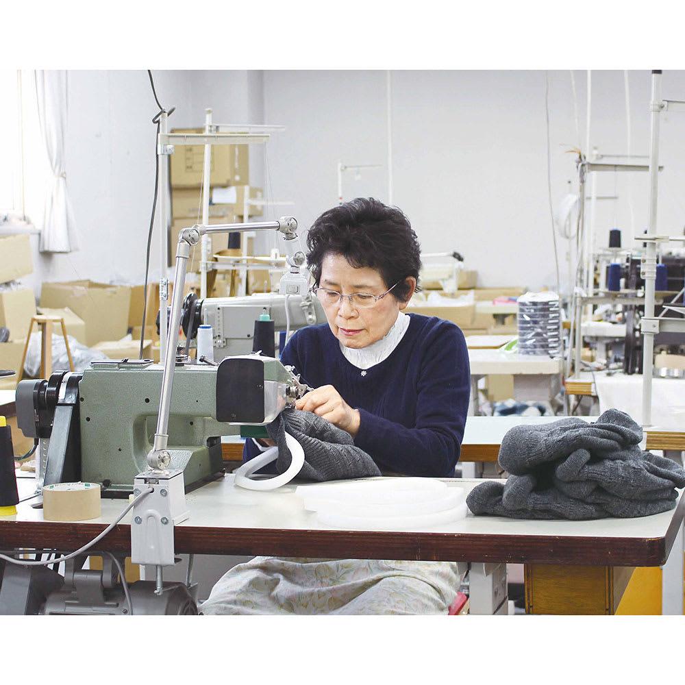 髪型ふんわり蓄熱ニット帽 日本製 職人技が光るメイドインジャパン