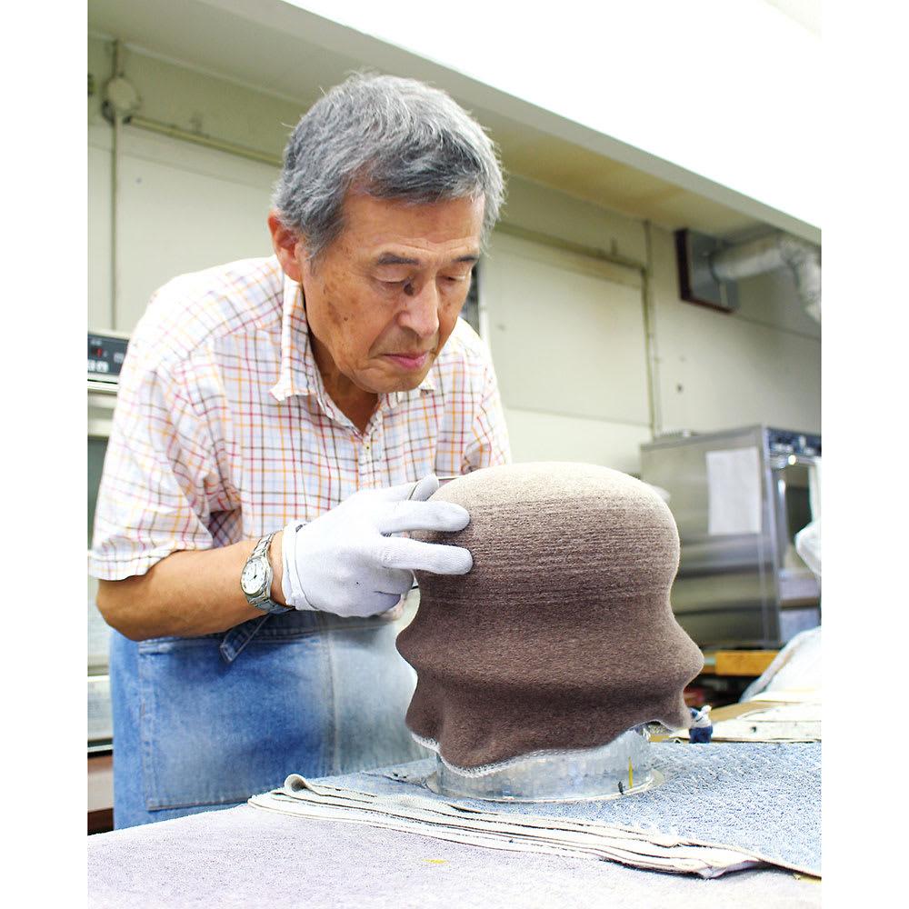軽くてふんわり・こだわりウール帽子 日本製 創業40余年の国産帽子メーカーで職人がひとつひとつ丁寧に手仕上げしています。