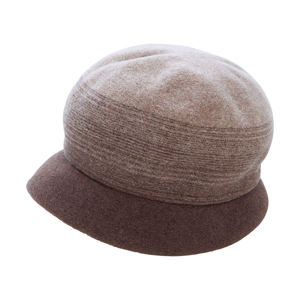 軽くてふんわり・こだわりウール帽子 日本製 (イ)ブラウン