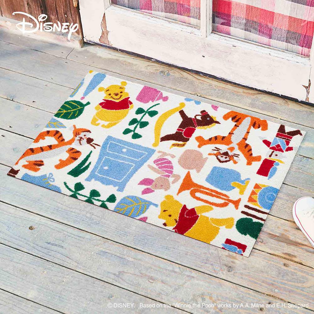Pooh(くまのプーさん)/玄関マット 50×75cm|Disney(ディズニー) (イ)プーさんと仲間