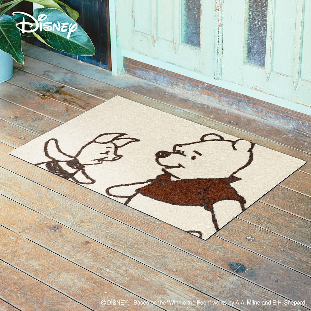 Pooh(くまのプーさん)/玄関マット 60×90cm|Disney(ディズニー) (ア)プーさん&ピグレット