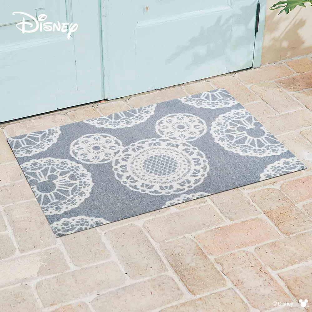 ミッキー/玄関マット レース 60×90cm|Disney(ディズニー) (イ)グレー