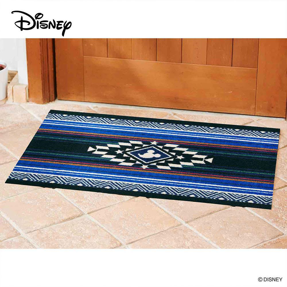 ミッキー/玄関マット キリム 60×90cm|Disney(ディズニー) (ア)ブルー