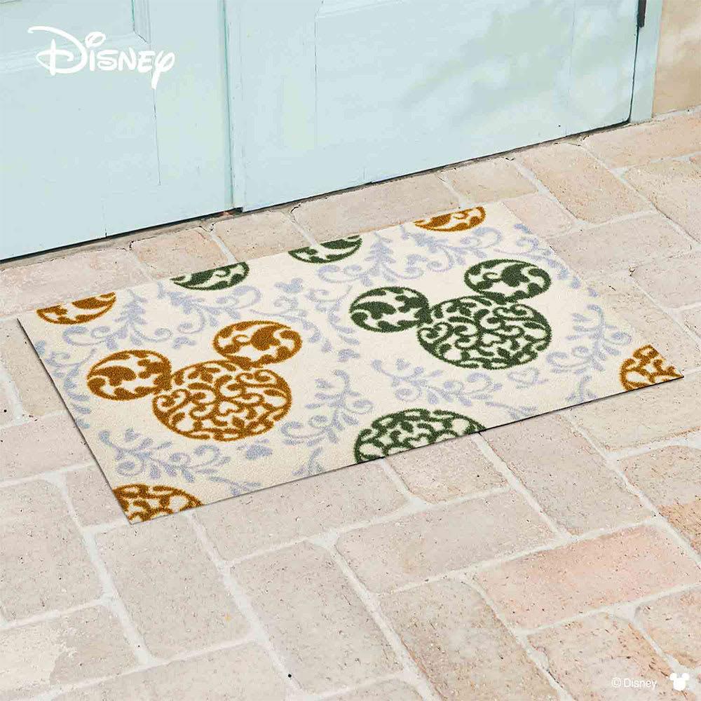 ミッキー/玄関マット ロココ調 50×75cm|Disney(ディズニー) (ア)グリーン