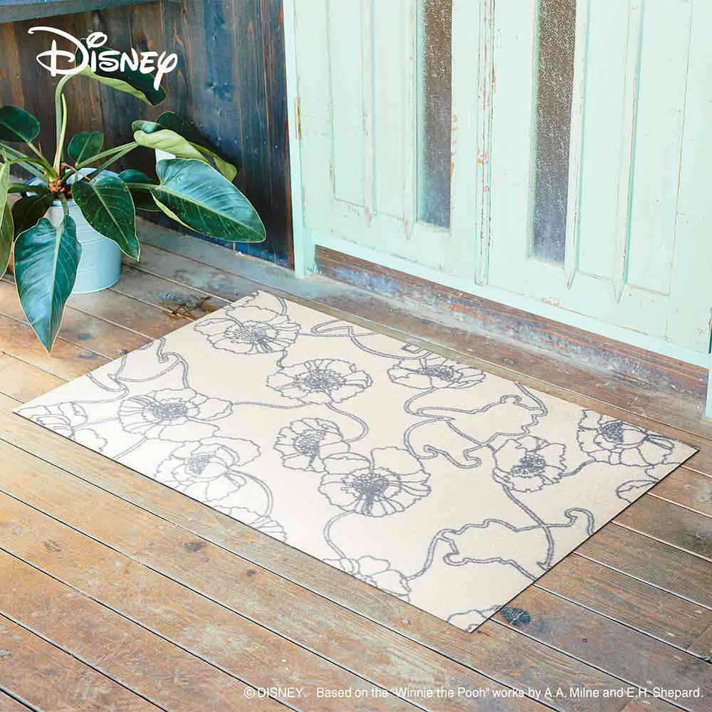 Pooh(くまのプーさん)/玄関マット 75×120cm Disney(ディズニー) (イ)ベージュ アネモネ