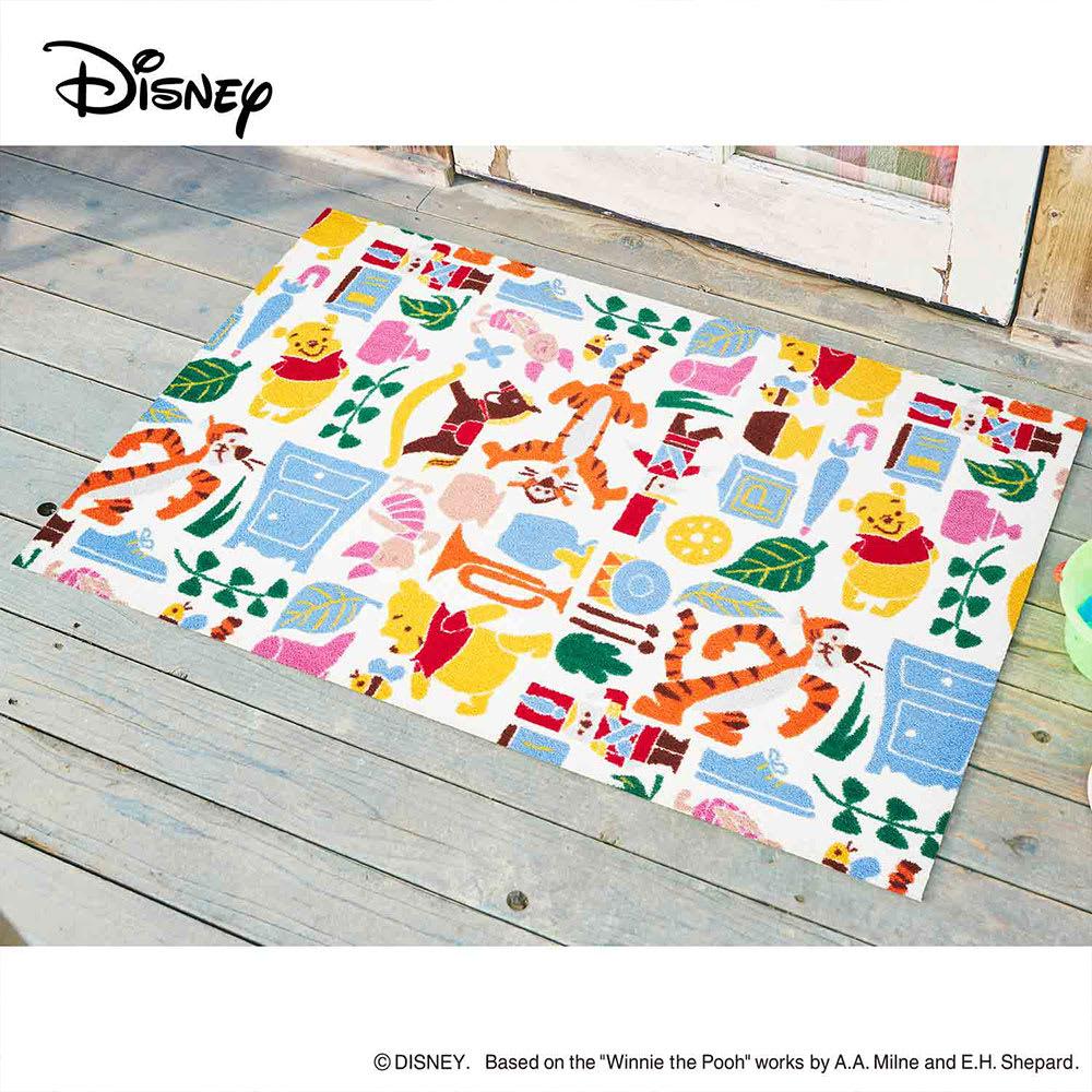 Pooh(くまのプーさん)/玄関マット 75×120cm Disney(ディズニー) (ウ)プーさんと仲間達