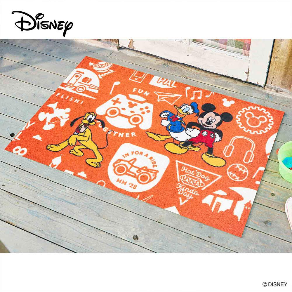 ミッキー/玄関マット 75×120cm|Disney(ディズニー) (ア)ミッキーと仲間達