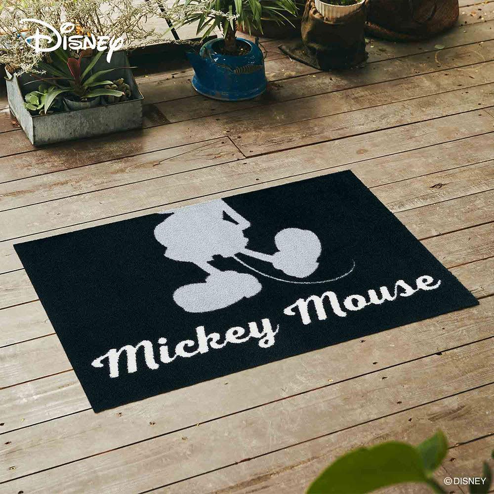 玄関マット Mickey/ミッキー シルエット 60×90cm[Disney/ディズニー] (イ)グレー