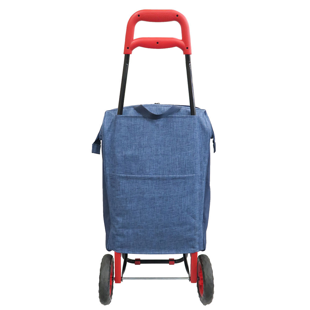 moz(モズ)/ショッピングキャリーバッグ|エルク Back/大きなポケット付き。折りたたみ傘や雑誌等の収納に便利です。