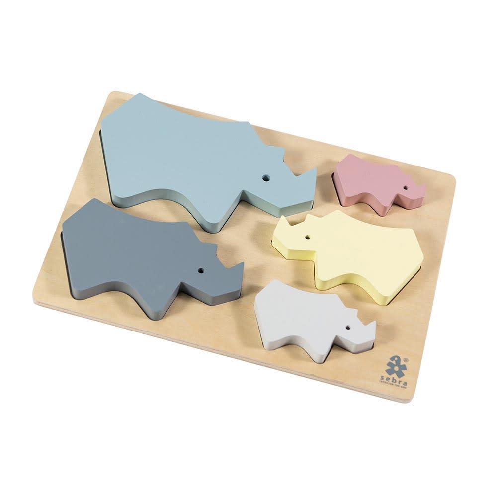 sebra(セバ)/サイのベビーパズル|おもちゃ