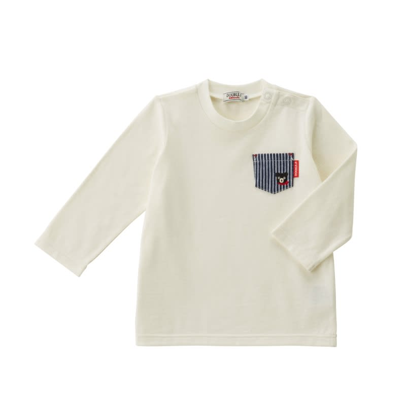 miki HOUSE(ミキハウス)/ダブルB 長袖Tシャツ (ウ)ホワイト