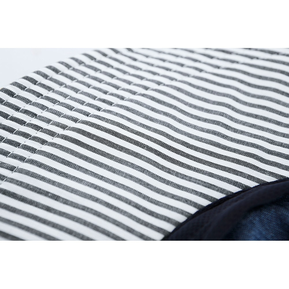 UVデニムハット/髪型ふんわりハット (ア)ネイビー/ツバ裏ストライプ生地使用で顔色を明るく。