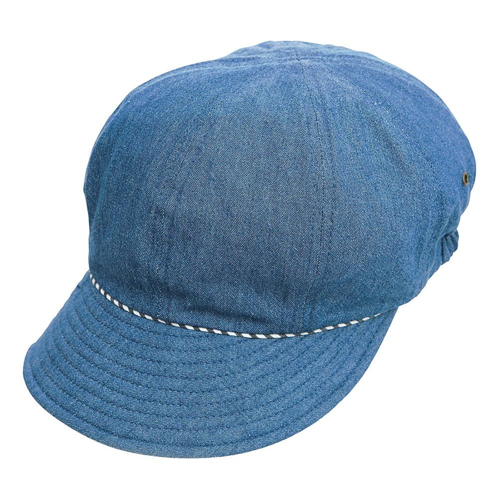 UVデニムキャスケット/髪型ふんわり (イ)ブルー