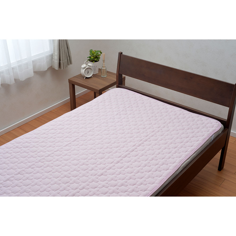 京都西川/pH調整生地使用敷きパッド (ア)ピンク