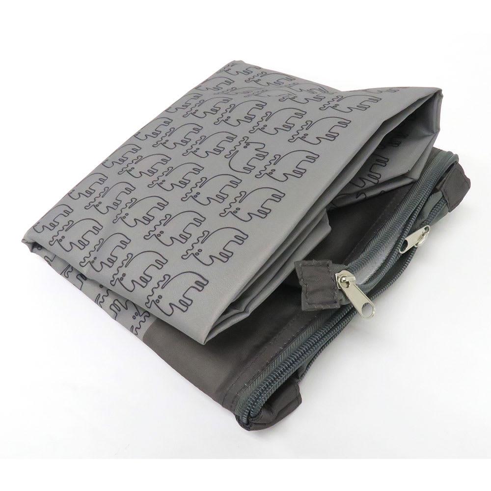 moz(モズ)/保冷機能付きショッピングトートバッグ エルク 折りたたんで専用袋に収納できます。