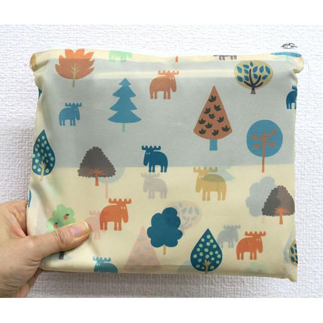 moz(モズ)/保冷機能付きショッピングトートバッグ|エルク 折りたたんで専用袋に収納できます。