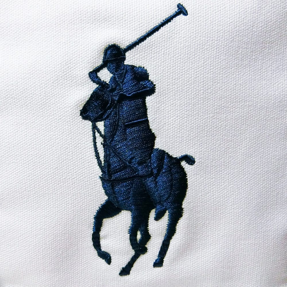 POLO RALPHLAUREN(ポロラルフローレン)/CAMINO TOTE OS(カミーノ トート オーエス)トートバッグ|キャンバス (ア)ホワイト/大きなポニーマークの刺繍がポイント。