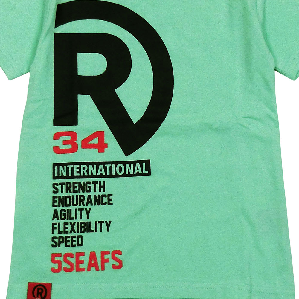 RealBvoice(リアルビーボイス)/キッズ ロゴバリエーションTシャツ(130-160cm) (イ)メロン/Front