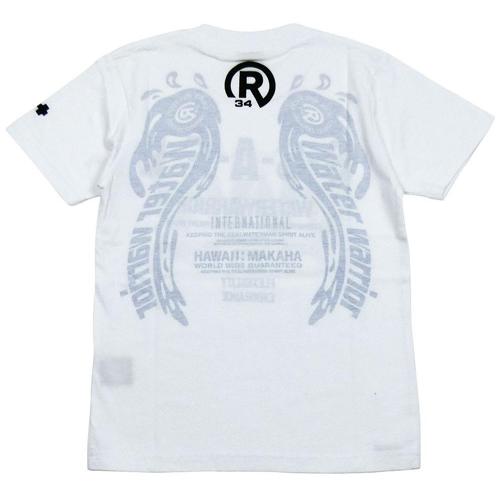RealBvoice(リアルビーボイス)/キッズ WW透かしTシャツ(130-160cm) (ア)ホワイトサックス/Back