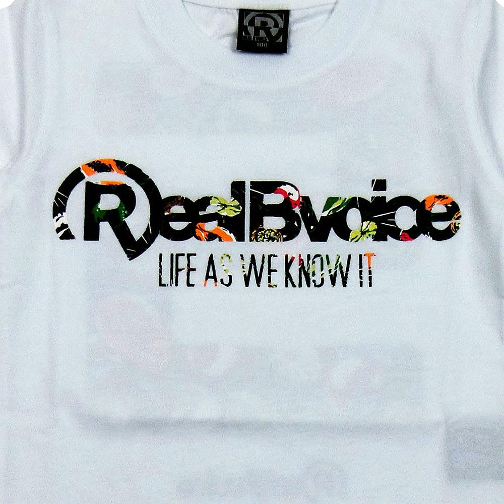 RealBvoice(リアルビーボイス)/キッズ ボタニカル柄Tシャツ(100-160cm) (ア)ホワイト/Frontプリント