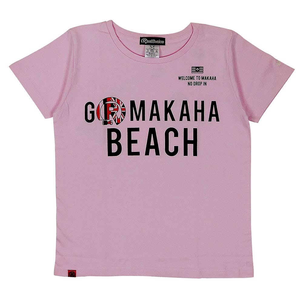 RealBvoice(リアルビーボイス)/ゴーマカハビーチ レディースTシャツ (ウ)ピンク/Front