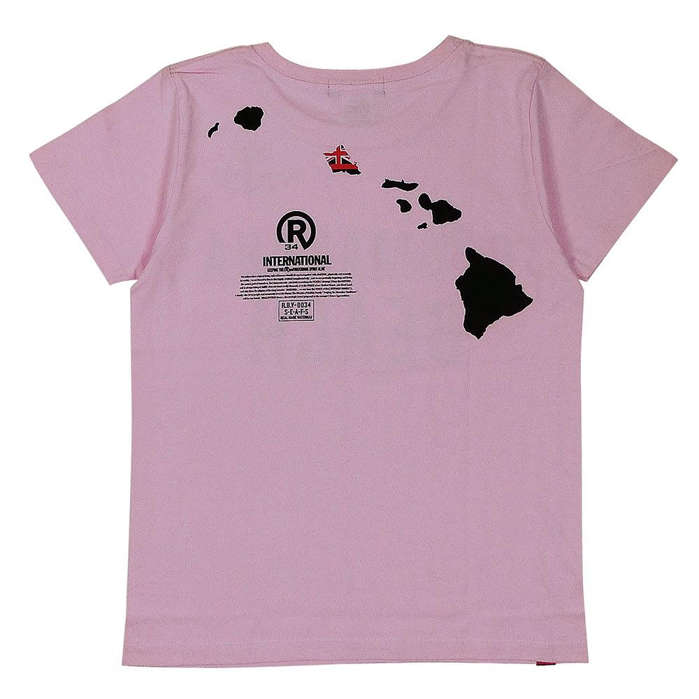 RealBvoice(リアルビーボイス)/ゴーマカハビーチ レディースTシャツ (ウ)ピンク/Back