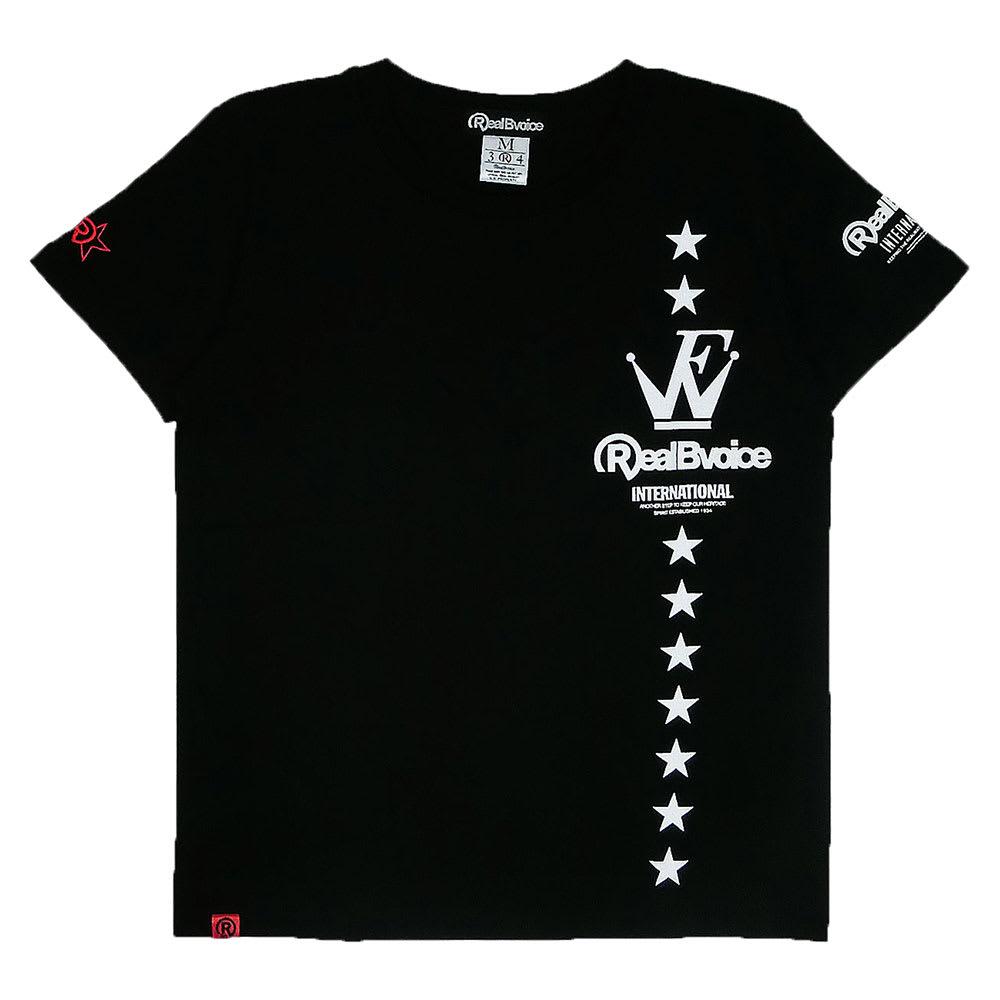 RealBvoice(リアルビーボイス)/ウェーブファイター SS レディースTシャツ (ウ)ブラック…Front