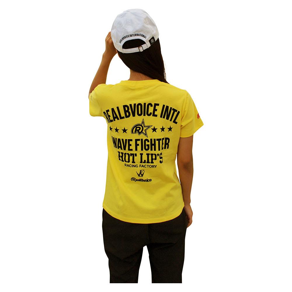 RealBvoice(リアルビーボイス)/ウェーブファイター SS レディースTシャツ (ア)イエロー…着用イメージBack