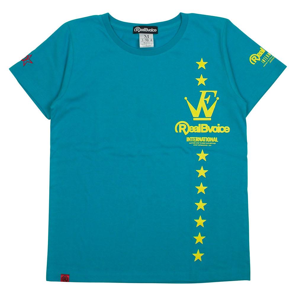 RealBvoice(リアルビーボイス)/ウェーブファイター SS レディースTシャツ (イ)ターコイズ…Front