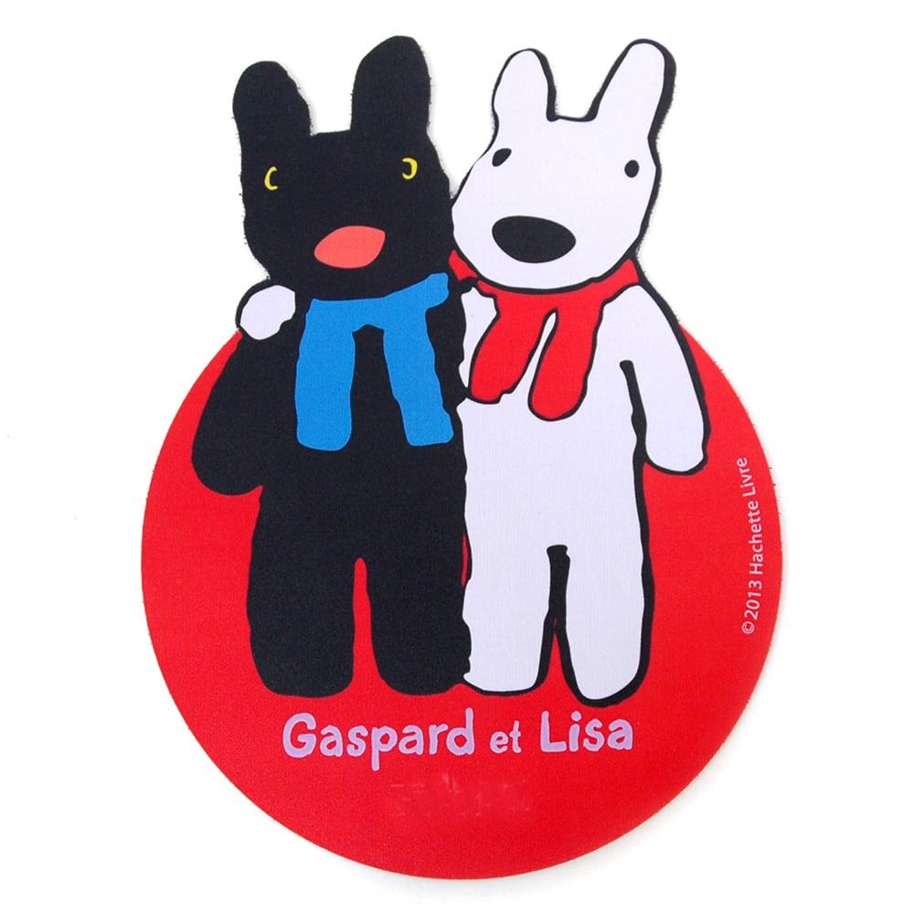 リサとガスパール ダイカットマウスパッド (ア)カタクミ