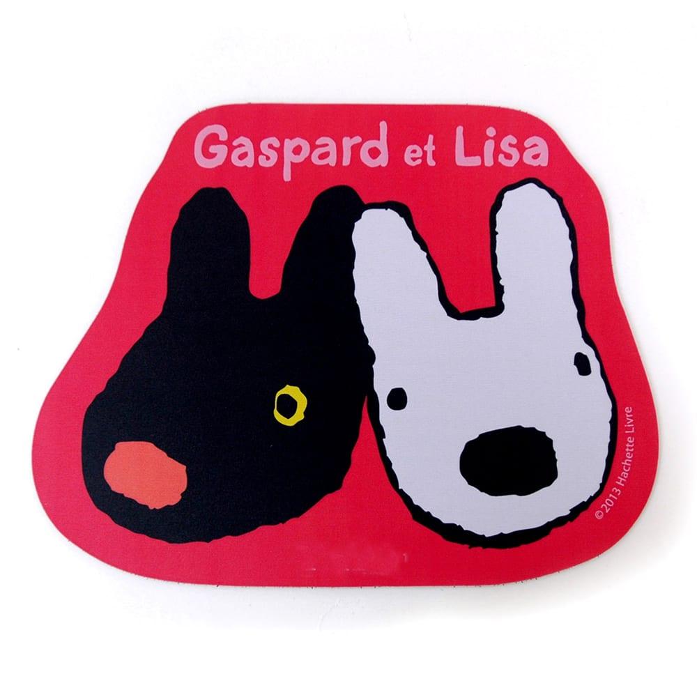 リサとガスパール ダイカットマウスパッド (ウ)フェイス