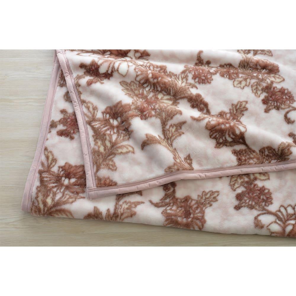 京都西川/日本製アクリルニューマイヤー毛布 (ア)ライトピンク