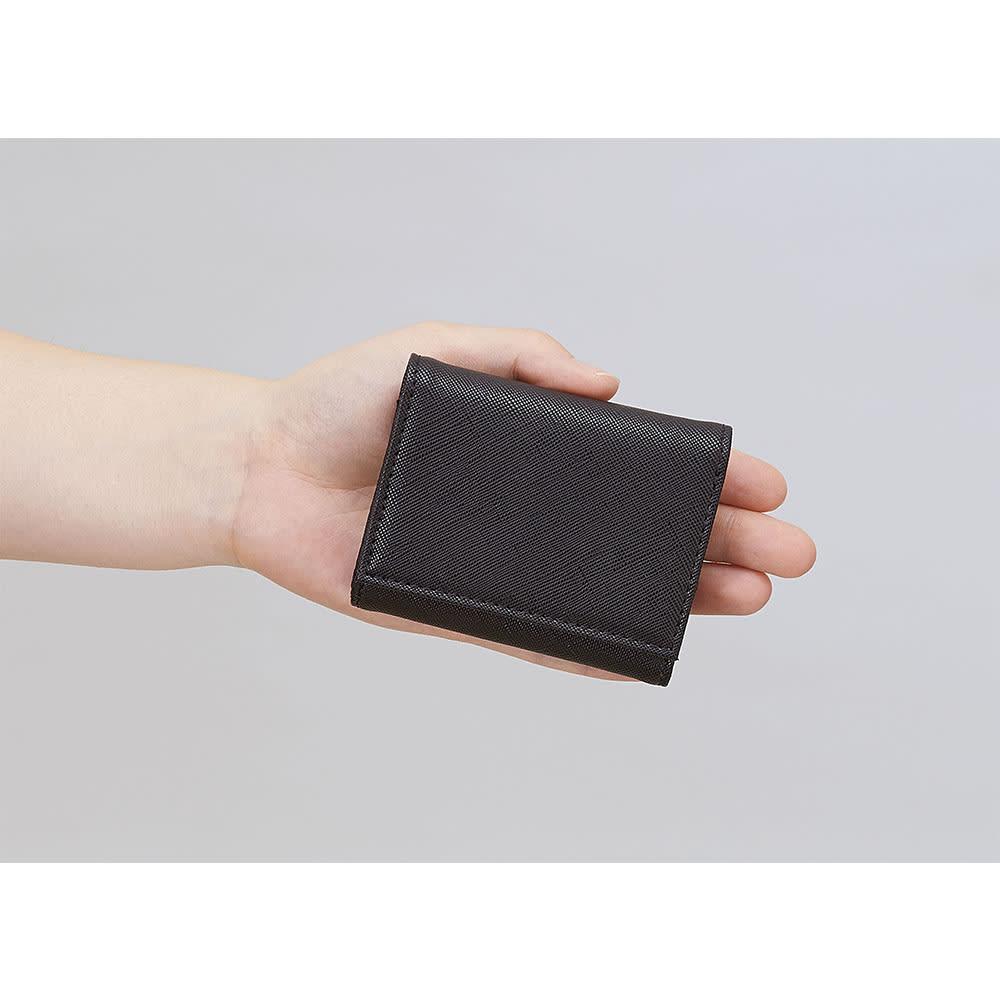 すっきり収まる手のり財布 (ウ)ブラック