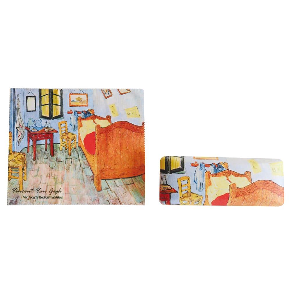 メガネケース ゴッホアート (ウ)アルルのゴッホの寝室