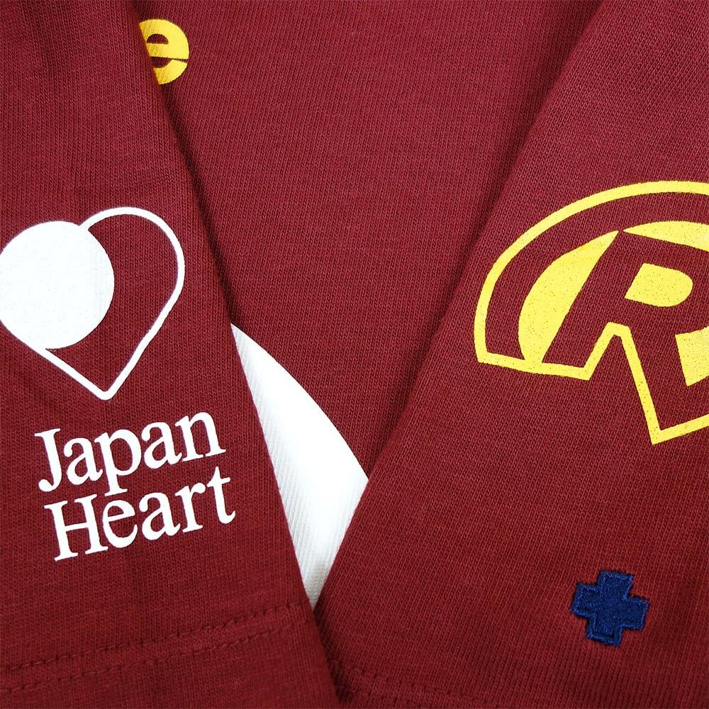 RealBvoice(リアルビーボイス)/ジャパンハートTシャツ (イ)バーガンディ