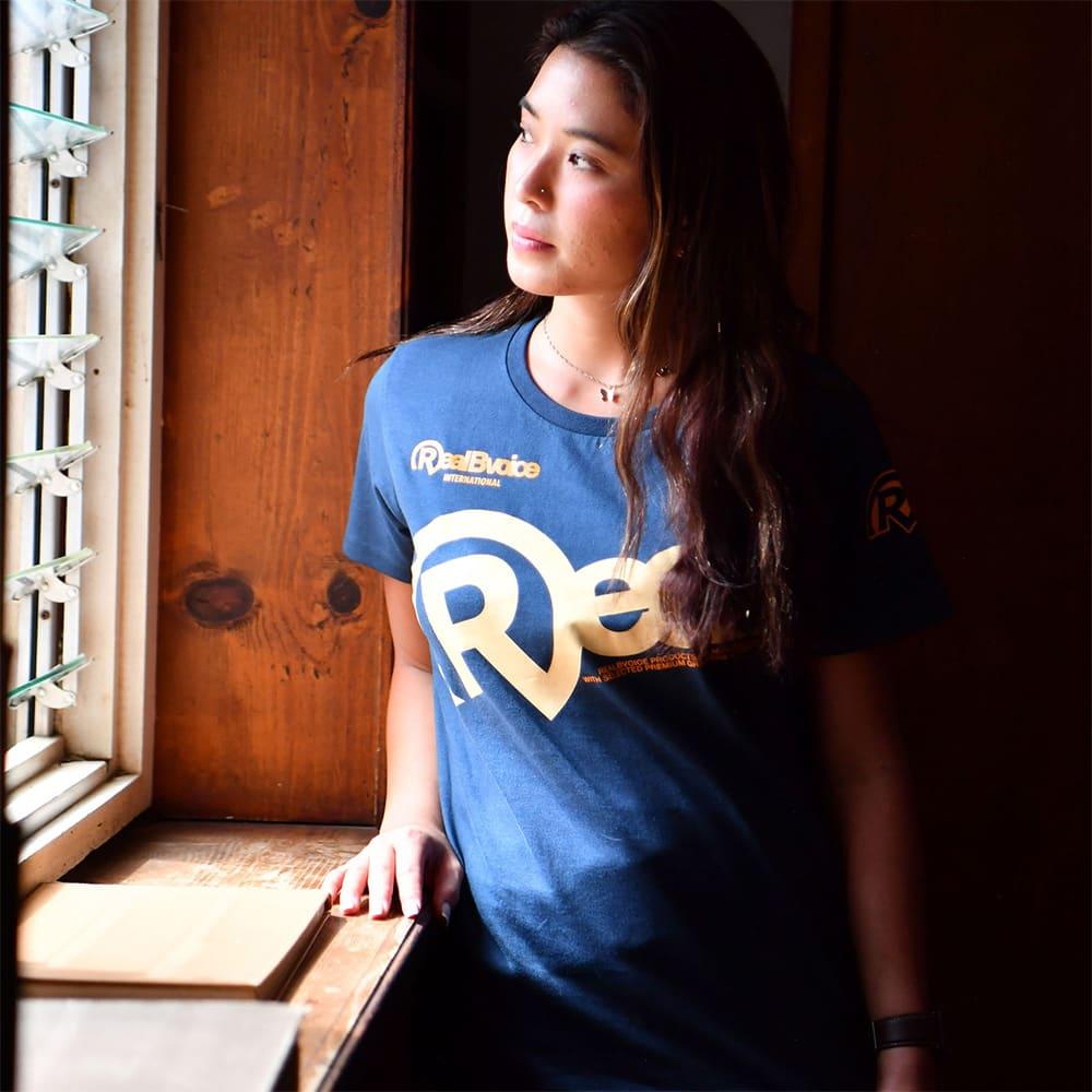 RealBvoice(リアルビーボイス)/ジャパンハートTシャツ (ウ)スレート
