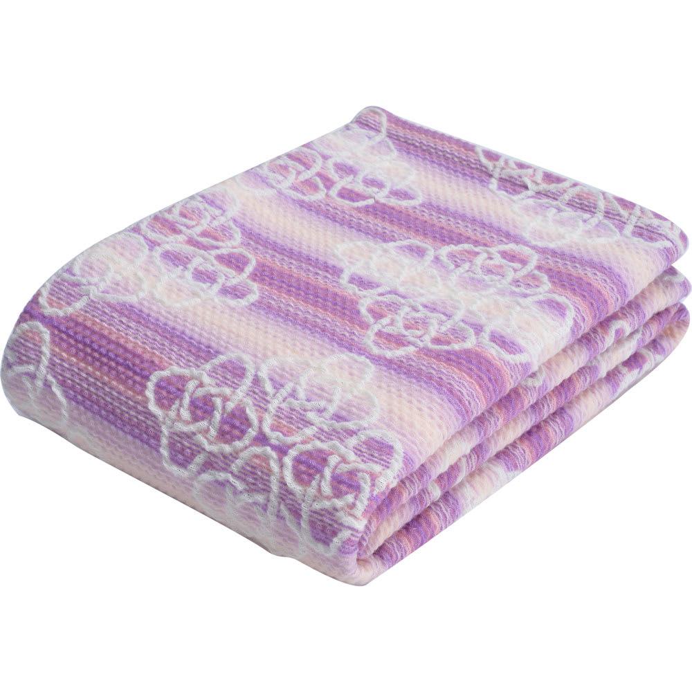 西川京都/日本製 和紙繊維使用 きょうのしつらえくしゅくしゅケット (ア)ピンク