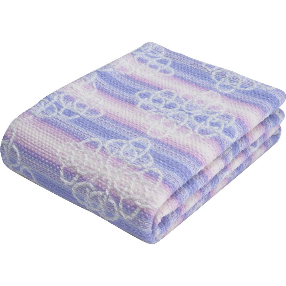 西川京都/日本製 和紙繊維使用 きょうのしつらえくしゅくしゅケット (イ)ブルー