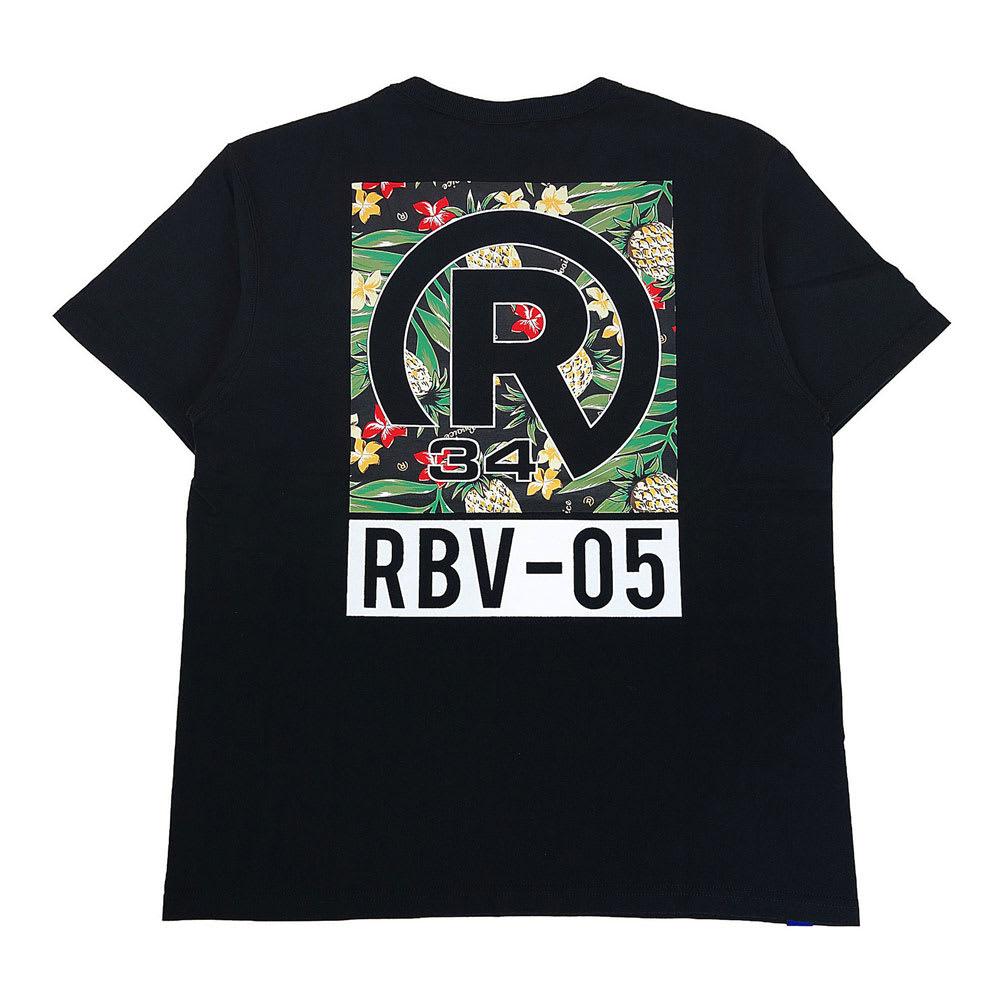 RealBvoice(リアルビーボイス)/ボタニカル柄 Tシャツ (ア)ブラック/Back