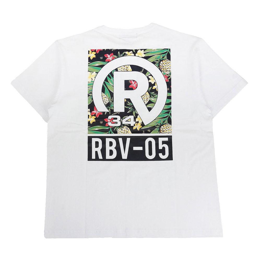 RealBvoice(リアルビーボイス)/ボタニカル柄 Tシャツ (イ)ホワイト/Back