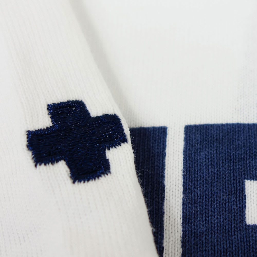 RealBvoice(リアルビーボイス)/キッズ ヘビーウェスト リブ Tシャツ RBV(130-160cm) 袖にはクロスの刺繍入り