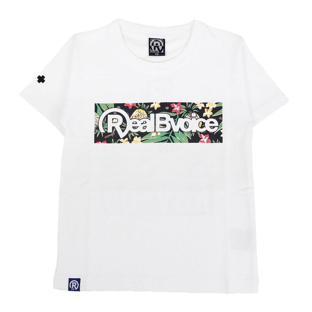 RealBvoice(リアルビーボイス)/キッズ ボタニカル柄 Tシャツ(100-160cm) (イ)ホワイト/Front